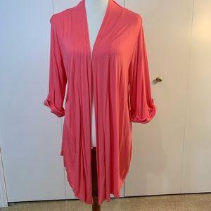 Olivia Moon XL peach cardigan adjustable sleeve